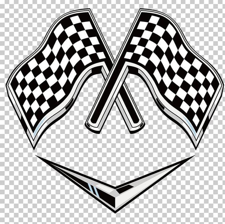 Racing Flags Auto Racing Logo Png Automotive Design Banner Black And White Brand Decorative Patterns Logos Racing Logo Design