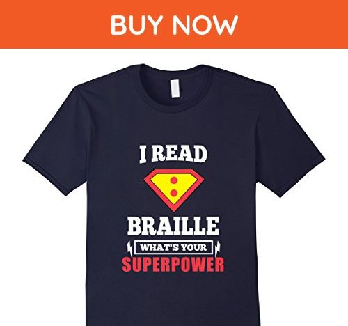 Mens Funny Cool I Read Braille What is Your Superpower T-shirts Large Navy - Funny shirts (*Amazon Partner-Link)