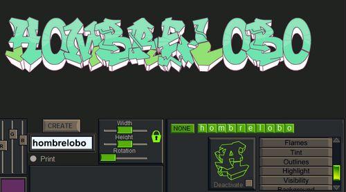 Crea graffitis con tu nombre!!!;)