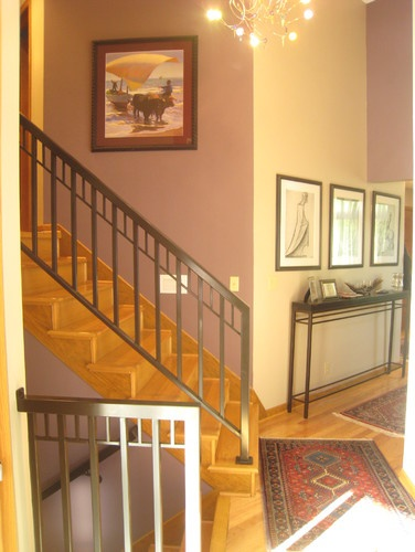 Split Foyer Stair Railing : Ideas about split level entryway on pinterest
