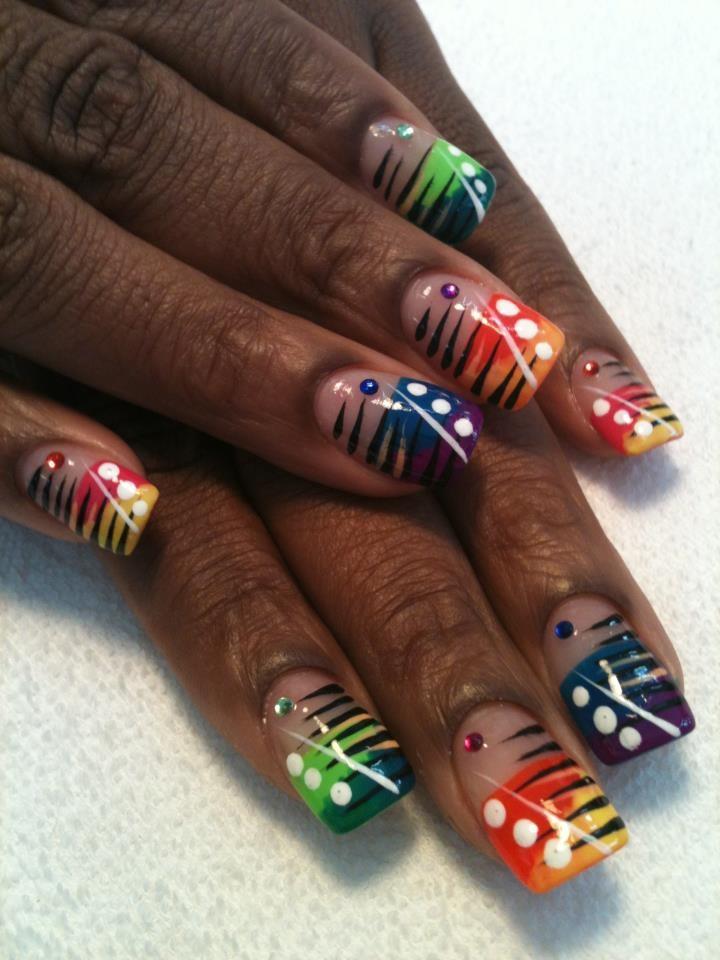 Tropical nail design by Tish