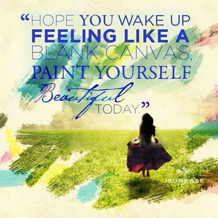 Hope you are feeling like a blank canvas. Paint yourself beautiful today. Beauty is in the eye of the beholder!  TryInstantlyAgeless.com