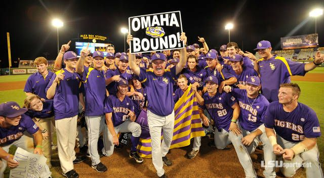 Back Home in Omaha! Baseball Gets Super Sweep - LSUsports.net - The Official Web Site of LSU Tigers Athletics