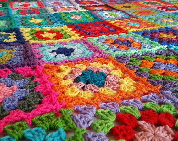 Abuela plazas manta afgano ganchillo sofa cerca de 70 - Mantas de ganchillo para sofas ...
