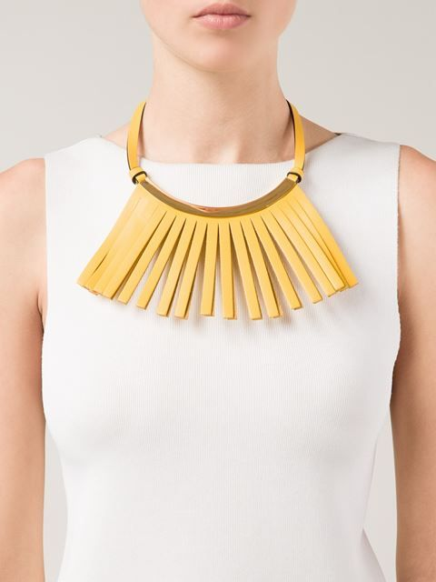 Marni ожерелье с бахромой