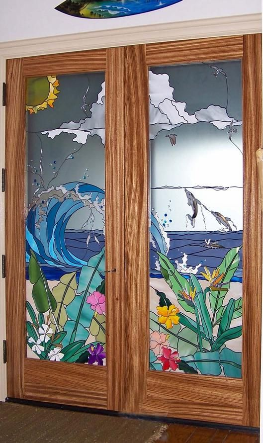 Tropical Entry - Delphi Artist Gallery by Art Glass Overlay