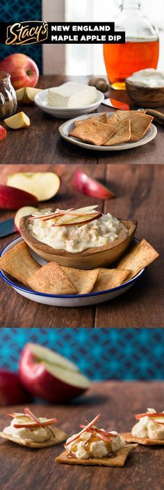 New England Maple Apple Dip by James Beard Award-winning chef Joanne Chang. A delightful dessert dip filled with crunchy apples, creamy cream cheese and hints of maple. Everything we love about New England in one sweet recipe from James Beard Award-winning chef Joanne Chang. So good!