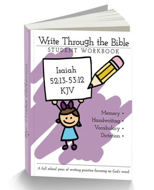 Isaiah 52:13-53:12 KJV Handwriting Workbooks - Intoxicated on Life Store