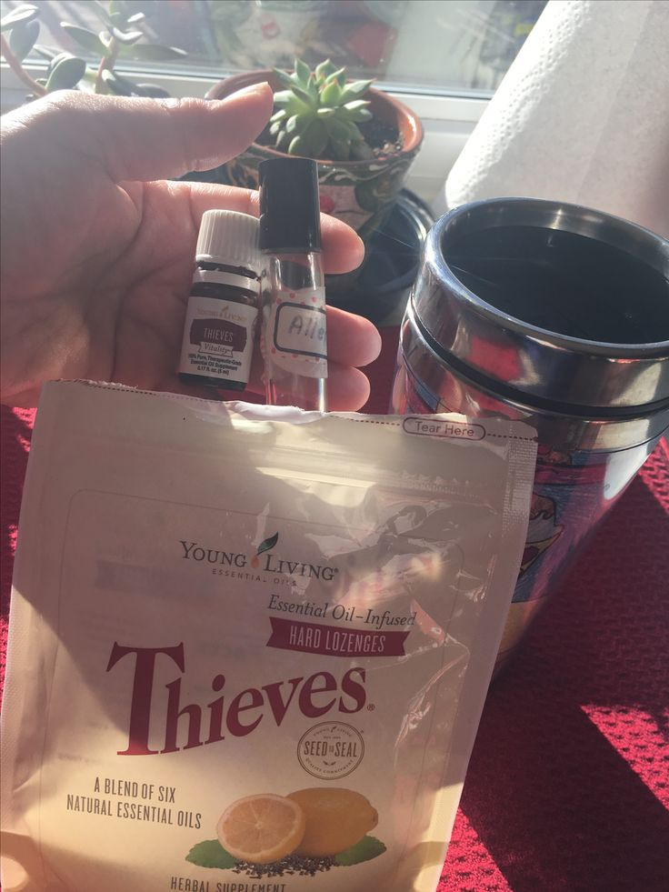 Needed to keep vocally healthy and clear this morning while singing at a church job today. This helped to keep allergies away - a drop of Thieves in my coffee, allergy trio roller, and Thieves throat lozenges