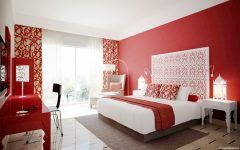 Cool Bedroom Design Red And White