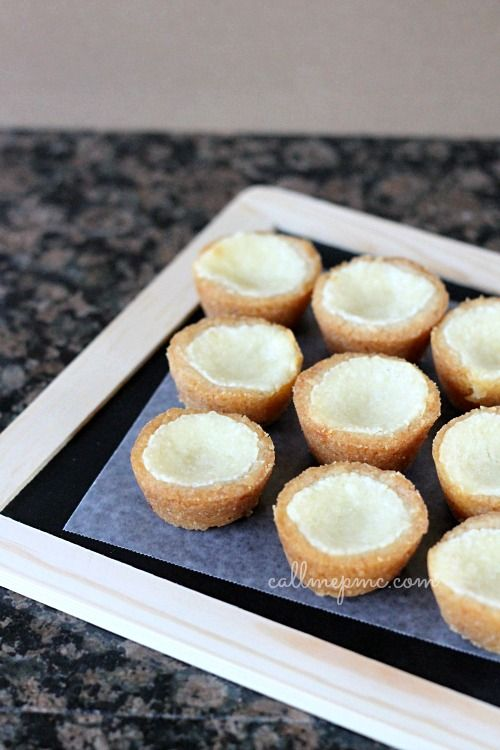 Cheesecake Cookie Cups #callmepmc. Just top with your favorite filling like lemon curd, strawberries, cherry pie filling, chocolate...the possibilities are endless.