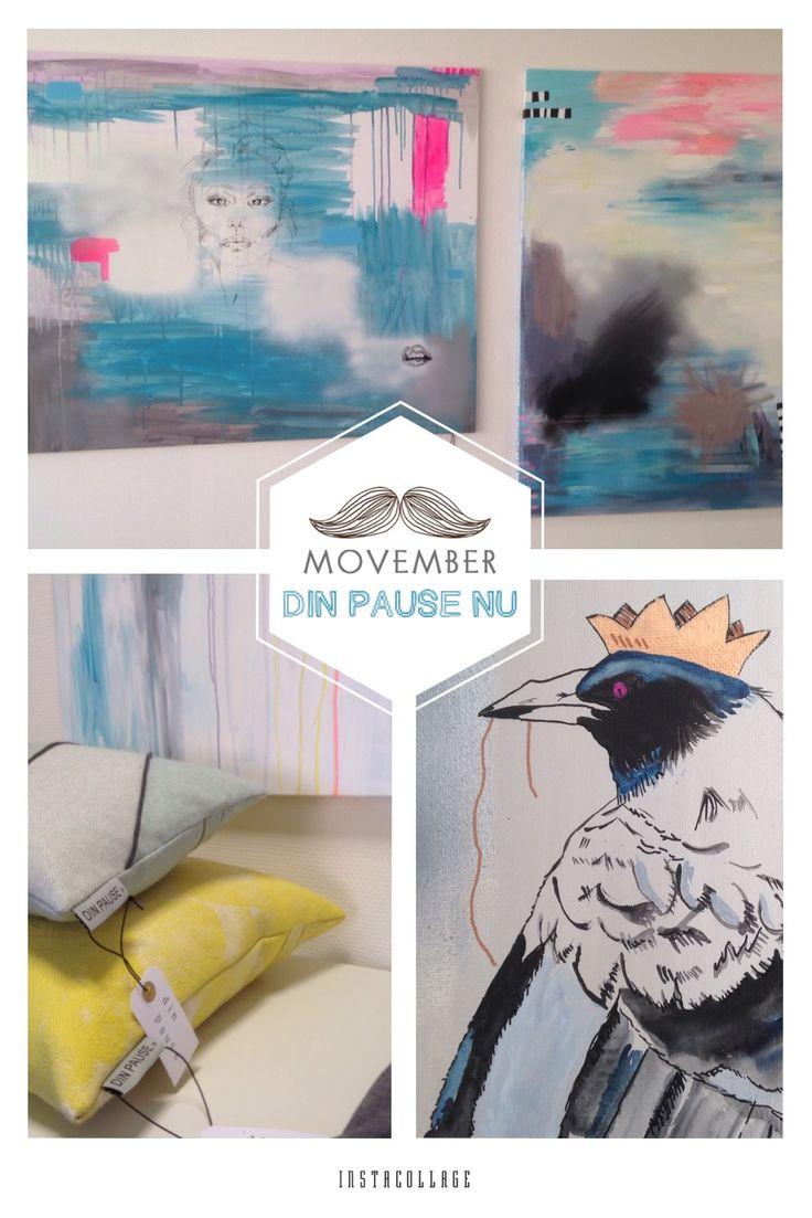 """Nåh så er det tid til """"skæg"""" 1. Nov. - Jeg er i krig med lækre puder i blå toner og kan se der sker noget med de nye bunde på malerierne at de bliver mørker.. Min hjerne er nok gået i efterårs-tilstand. Skal nok vise nogle billeder inden for de næste par dage. God dag Zabine / DIN PAUSE NU  https://m.facebook.com/DINPAUSE/"""
