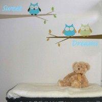 Sweet Dreams Blue Owls Wall Stickers