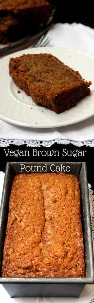 Vegan Brown Sugar Pound Cake