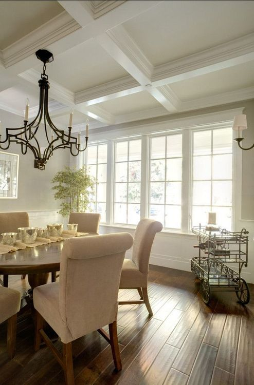 Ceiling for Dining Room -- A way to make the room feel more expensive. Tac