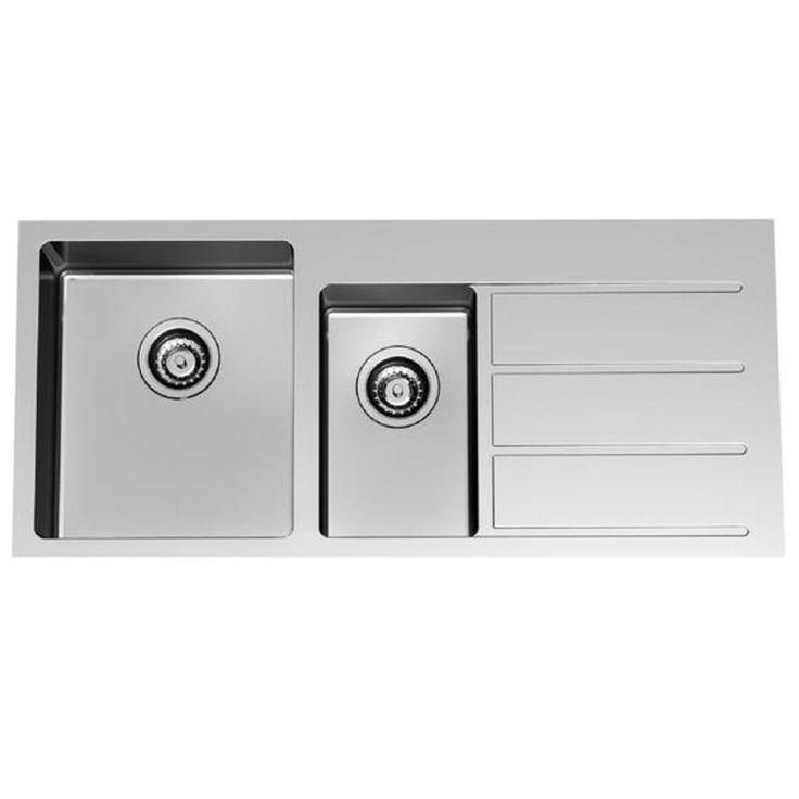 Evolution 1.5 End Bowl Sink Overmount or Undermount - ABL Tile & Bathroom Centre