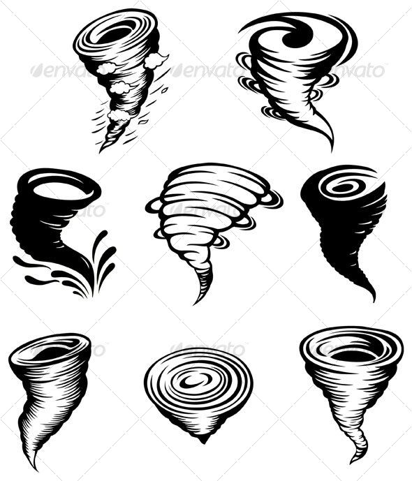 Tornado design elements — Vector EPS #design elements #power • Available here → https://graphicriver.net/item/tornado-design-elements/96057?ref=pxcr