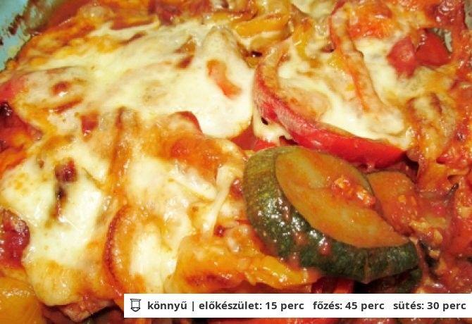 Rakott zöldség darált hússal diétásan