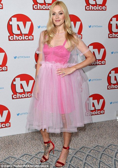 Pretty in pink: Fearne Cotton went for a different direction to the TOWIE cast and wove a ...