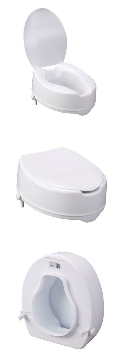 Toilet Seats: Raised Toilet Seat With Lid 6 Inch 12067 400Lbs (Free Shipping) BUY IT NOW ONLY: $65.02