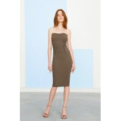 Midi khaki dress #minimalism #feminin