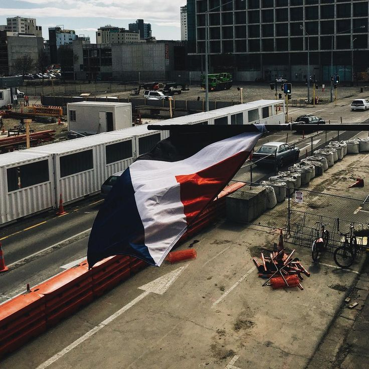 """""""Chucking Red Peak on a lighting rig out of our studio window for Christchurch City to see is probably the most I've ever done for this country #redpeak…"""""""