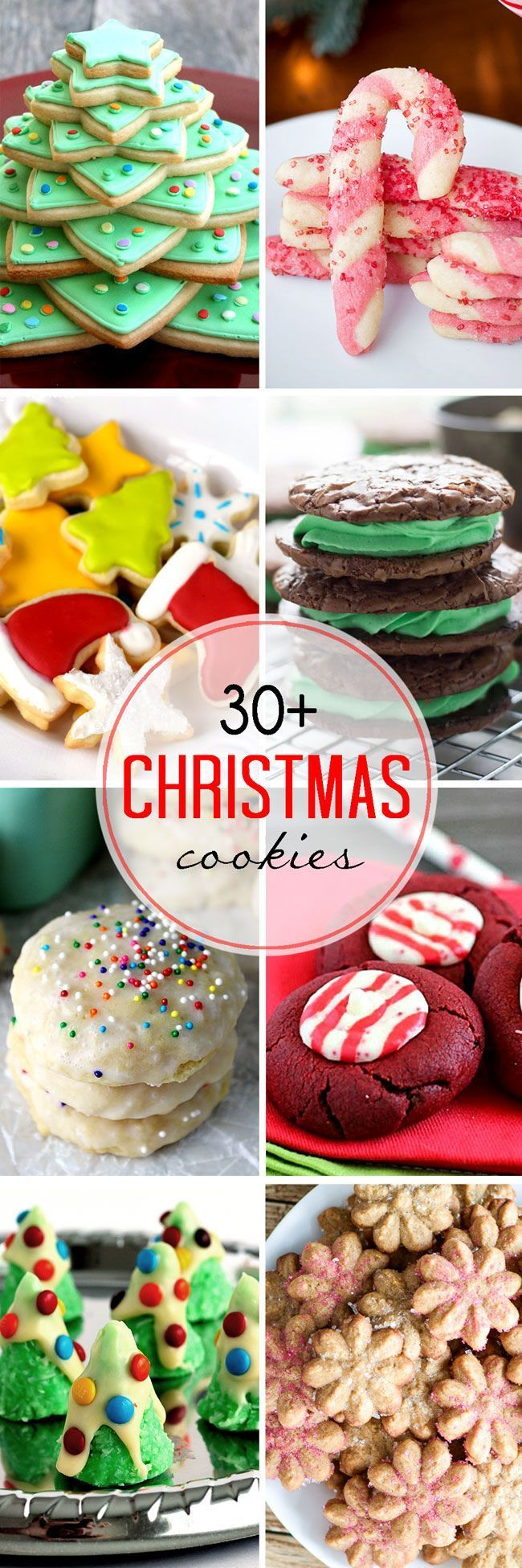 This collection of 30 Plus Festive Christmas Cookie Recipes is full of great ideas for your holiday baking. #recipe