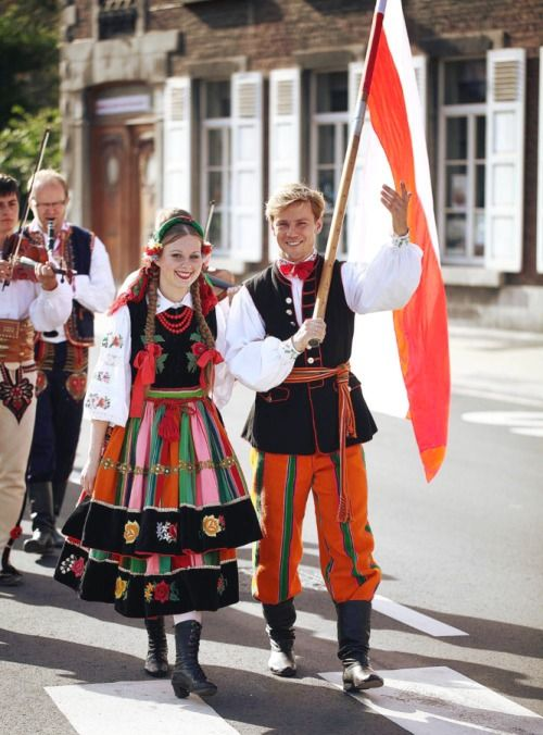 Regional costumes from Łowicz, Poland
