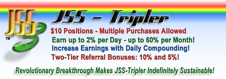 JSS-Tripler - Triple Your Money in 81 Days. Get Rich Quickly! Join Now!