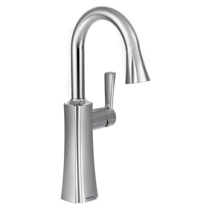 Moen Etch Chrome One-Handle High Arc Pulldown Bar Faucet - MS62608