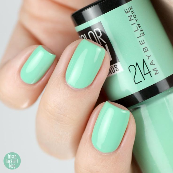 Maybelline ColorShow – Green With Envy 214 – swatch by frischlackiert