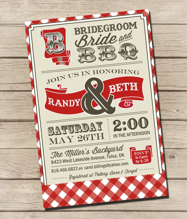 PRINTABLE - Vintage BBQ - Wedding via Etsy.