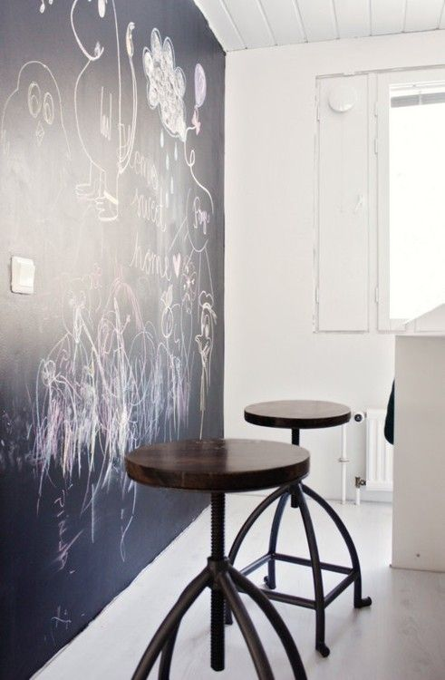 Chalkboard walls best way to draw on the walls and not get in trouble