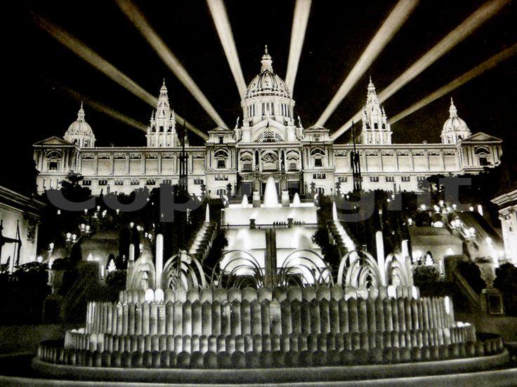 Fuente Mágica de Montjuic - Font Màgica de Montjuïc - La Barcelona de antes
