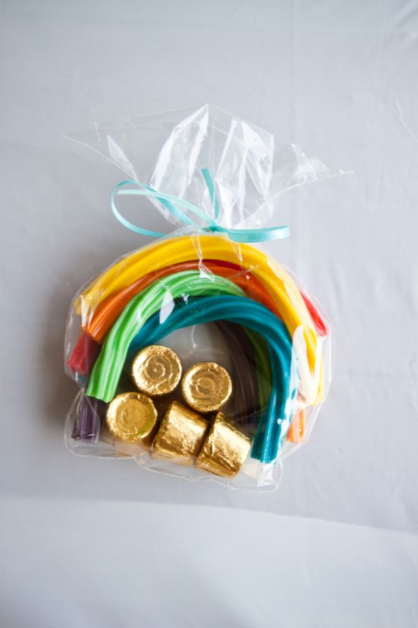 Love the Rolos as gold idea. I gotta say, we did the rainbow twizzlers one year and they just don't taste that great. Perhaps I'll just give my kiddos rolo pots of gold instead.