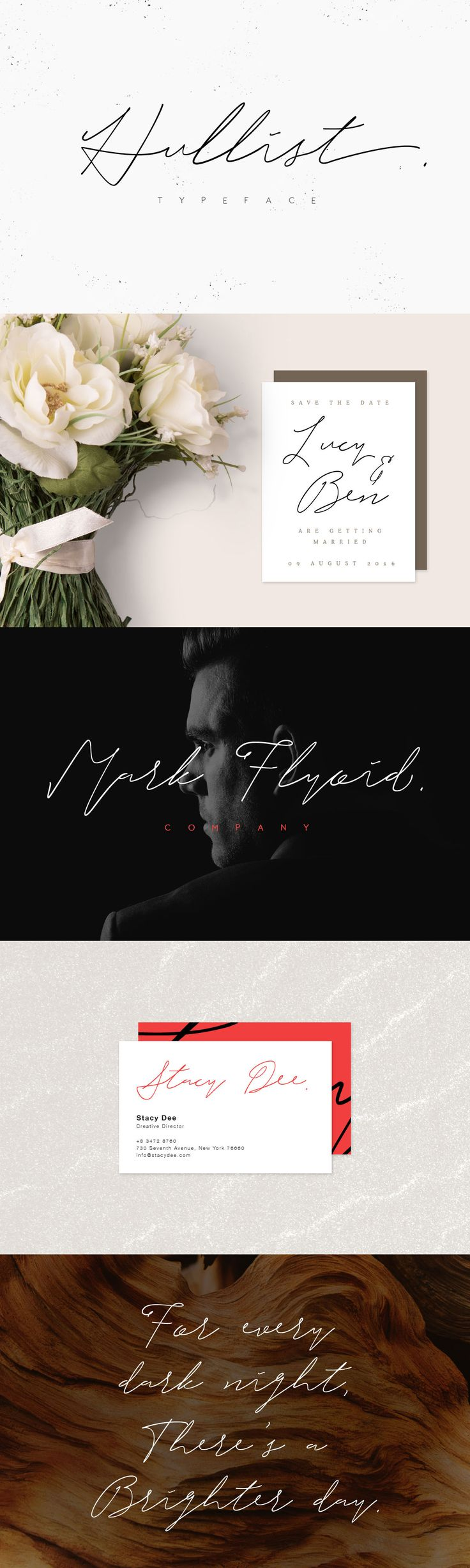 Hullist is classic handwritten font, every single letters have been carefully crafted to make your text looks beautiful. With modern script style this font will perfect for many different project ex: quotes, blog header, poster, wedding, branding, logo, fashion, apparel, letter, invitation, stationery, etc.