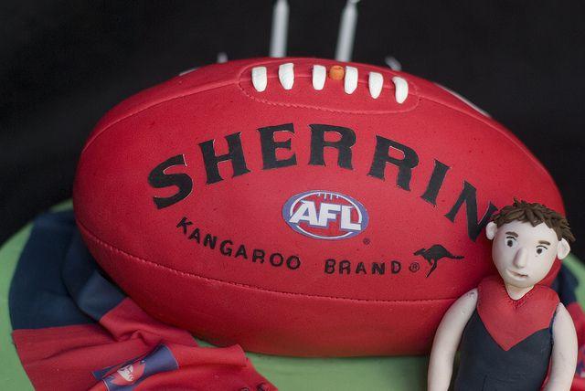 Melbourne Demons AFL Football Cake | Flickr - Photo Sharing!