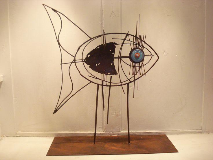 Escultura En Hierro Y Chapa Pez Proyecto Marcelo