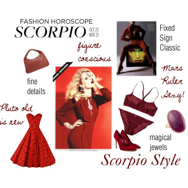 Scorpio Style By Expressingyourtruth On Polyvore Colors For The Signs Pinterest Scorpio