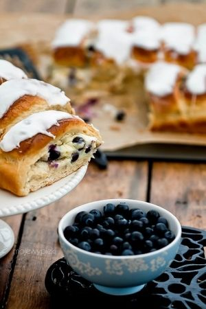 cream cheese and blueberry rolls by Debbie Gray