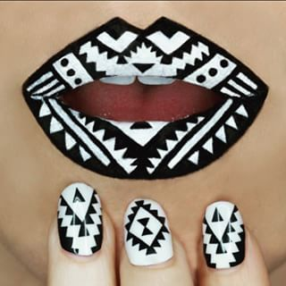 Then came the lip art/nail art combo. For funsies. | This Makeup Artist Transforms Her Lips Into Bite Sized Pieces Of Art