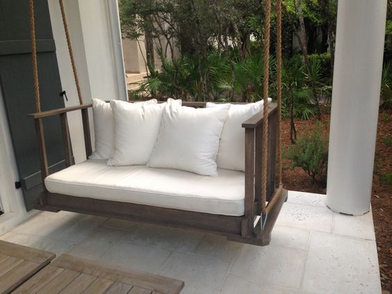 From CHRISTOPHER ARCHITECTURE AND INTERIORS Custom Bedswing Rosemary Beach Florida