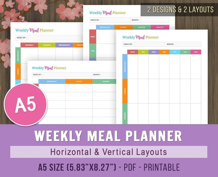 The  Best Meal Planner Printable Ideas On   Meal