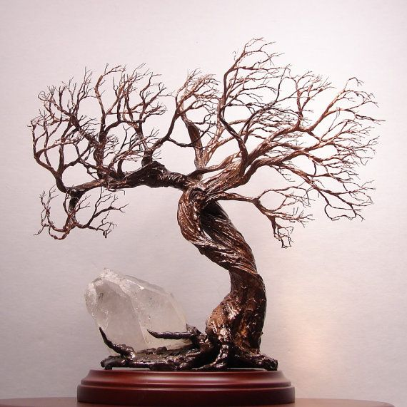 Quartz Crystal cluster Wire Tree Of Life Soul by CrowsFeathers, SOLD
