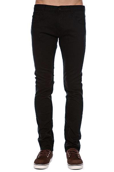 Зауженные черные мужские джинсы