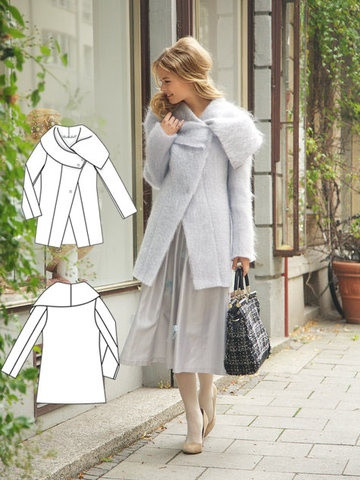 Mohair coat from Burda patterns - my next sewing project. Just lovely! PDF download $5.40 .... I have just purchased so will need to fit all my A4 pages together now!!