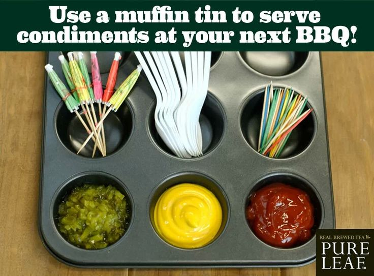 Sauces in muffin tins
