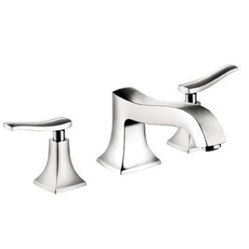 Make Photo Gallery Hansgrohe Chrome Metris C Metris C Bathroom Faucet Widespread with Metal Lever Handles and Pop
