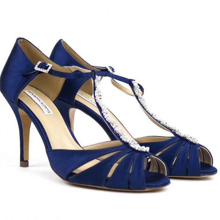 Benjamin Adams Matilda Navy Is Just 95 00 Crystal Bridal Accessories Www Crystalbridalaccessories Blue Shoeswedding