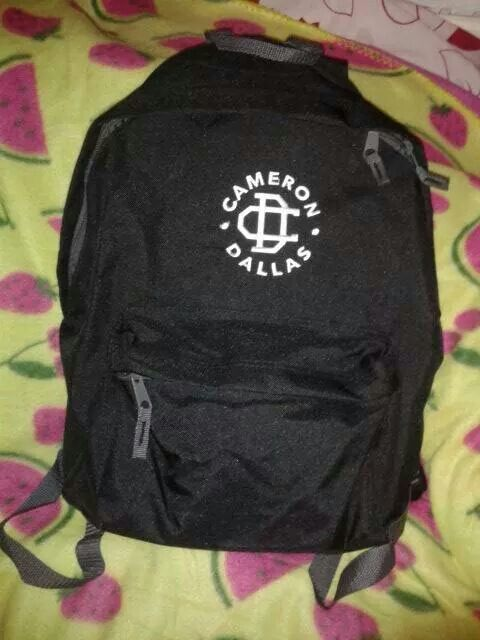 Cameron Dallas Merch this will be my backpack next year!